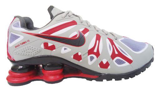 9e6a0a99a3 Tênis Nike Shox Turbo 13 Cinza Preto e Vermelho - O Mais Barato