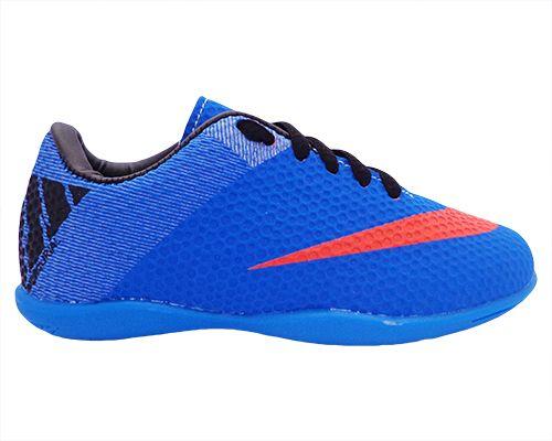 9100ff702a Tênis Futsal Infantil Nike Mercurial Azul Escuro - O Mais Barato