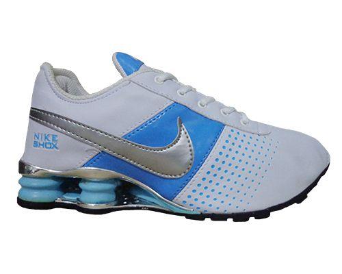 5c6b2c0dd ... reduced tênis nike shox deliver branco e azul 590d5 dd36e ...