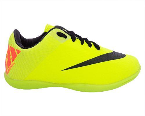 Tênis Futsal Infantil Nike Mercurial Verde Limão - O Mais Barato d32512b0d4dfd