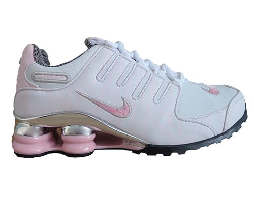 purchase cheap 547d6 a9b86 Tênis Nike Shox NZ Branco e Rosa